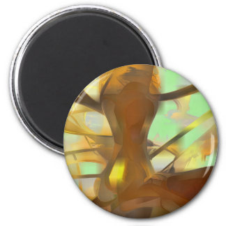 Honey Pastel Abstract Magnet