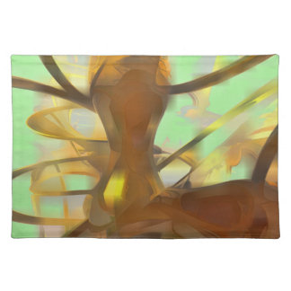 Honey Pastel Abstract Placemat