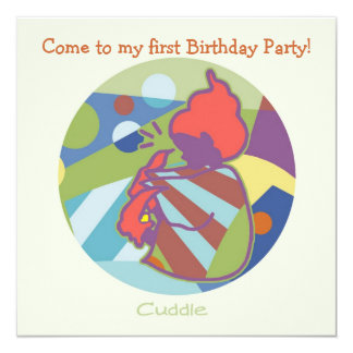 Honey Pie - Cuddle (Boy)  Party invitation card