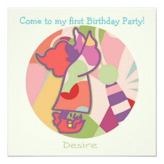 Honey Pie - Desire (Girl) Party invitation card