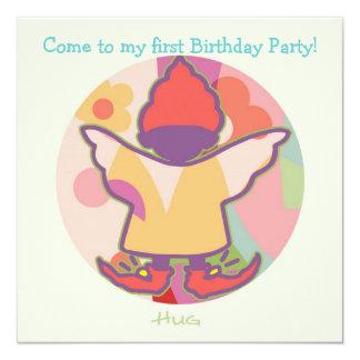 Honey Pie - Hug (Girl) Party invitation card