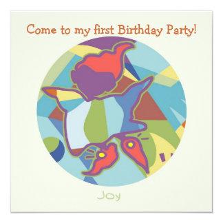 Honey Pie - Joy (Boy)  Party invitation card