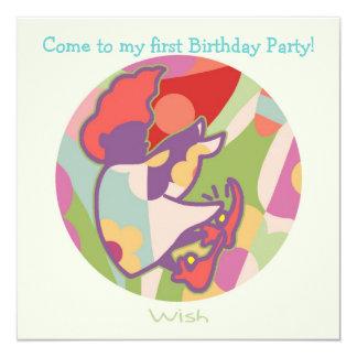 Honey Pie - Wish (Girl) Party invitation card