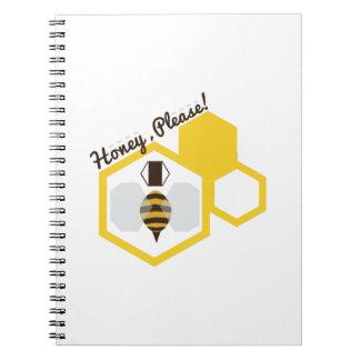 Honey Please Spiral Note Books