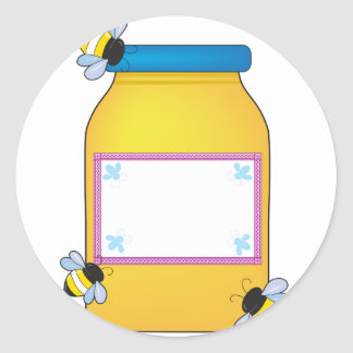 Honey Pot Classic Round Sticker