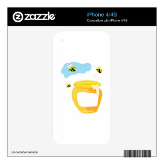 Honey Pot Decal For iPhone 4