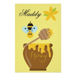 Honey Pot Honeybee Nursery Kids Wall Art Print Poster