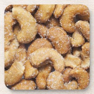 Honey roasted cashew nuts coasters