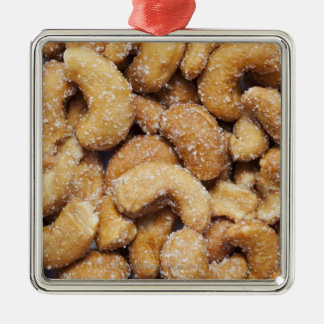 Honey roasted cashew nuts metal ornament