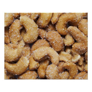 Honey roasted cashew nuts poster