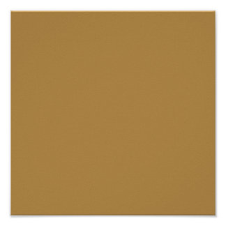 Honey Solid Color Poster