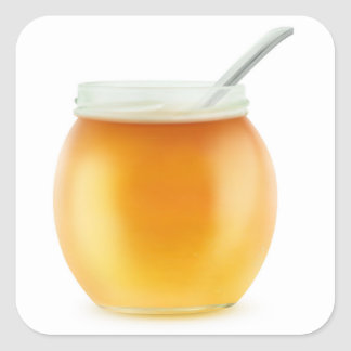 Honey Square Sticker