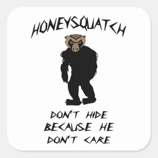 Honey Squatch Don't Hide Round Stickers
