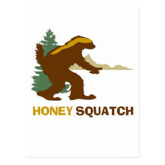 Honey Squatch Postcard