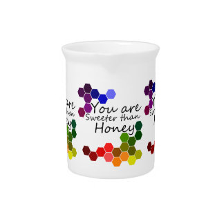 Honey Theme With Positive Words Drink Pitcher