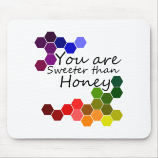 Honey Theme With Positive Words Mouse Pad