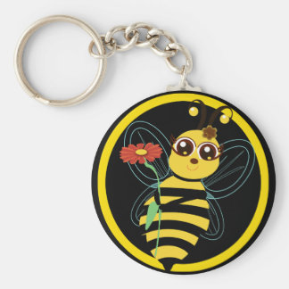 Honey Toon Bee Keychain