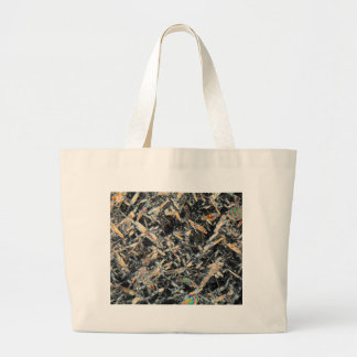 Honey under the microscope large tote bag