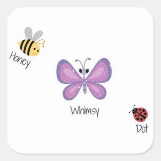 Honey Whimsey Dot Square Sticker