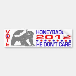 Honeybadger 2012 - Pegatina para el parachoques po Pegatina Para Auto