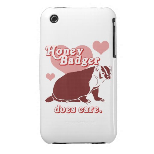 Honeybadger cuida iPhone 3 carcasa