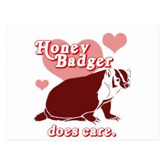 Honeybadger cuida tarjeta postal