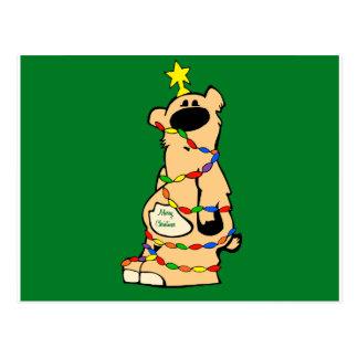 honeybear christmas_green postal