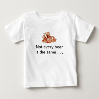 "Honeybear on the Phone, ""Bears Bears Bears"" Baby T-Shirt"