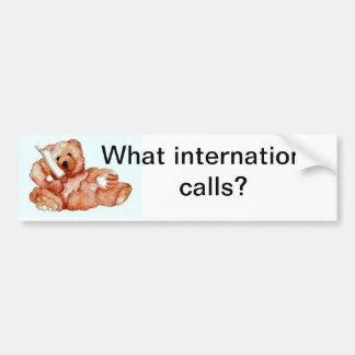 "Honeybear on the Phone, ""Bears Bears Bears"" Bumper Sticker"