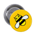 Honeybee 2 Inch Round Button