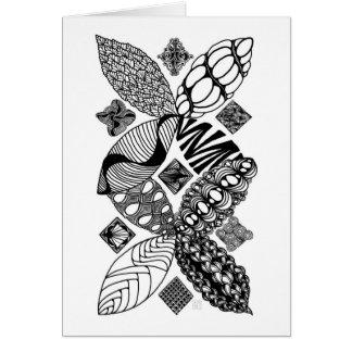 Honeybee - Abstract Art Greeting Card