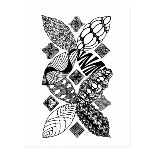 Honeybee - Abstract Art Postcard