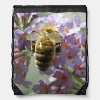 Honeybee and Buddleia Flower Backpack