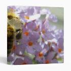 Honeybee and Buddleia Flowers Photo Album Binder