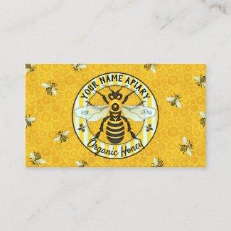 Honeybee and Honeycomb Beekeeper Apiary Bee Farm Business Card