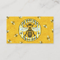 Honeybee and Honeycomb Beekeeper Apiary Bee Farm Business Card
