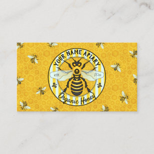 Farm business cards templates zazzle honeybee and honeycomb beekeeper apiary bee farm business card colourmoves