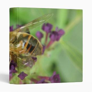 Honeybee and Purple Flowers Photo Album Binder