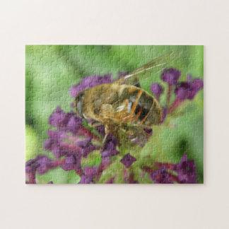 Honeybee and Purple Flowers Puzzle