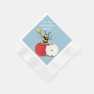 Honeybee Apple Rosh HaShana Paper Napkin
