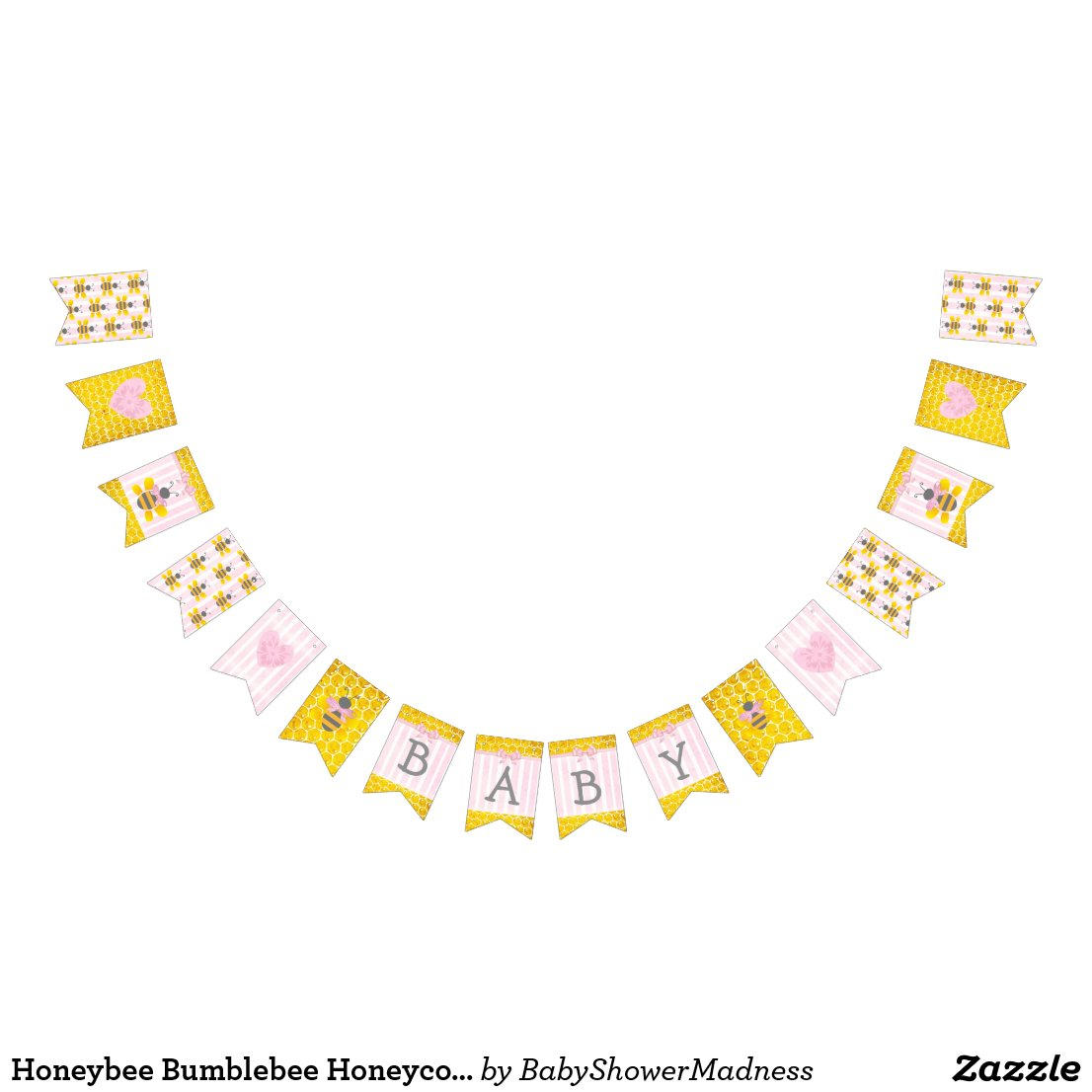 Honeybee Bumblebee Honeycomb Pink Girl Baby Shower
