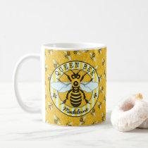 Honeybee Bumblebee Queen Bee Pretty | Personalized Coffee Mug