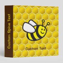 Honeybee Cartoon 3 Ring Binder