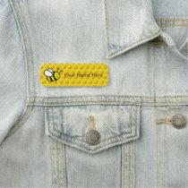 "Honeybee Cartoon 3"" X 1"" Rectangle Name Tag"