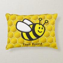 Honeybee Cartoon Accent Pillow