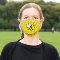 Honeybee Cartoon Adult Cloth Face Mask