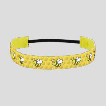 Honeybee Cartoon Athletic Headband