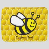 Honeybee Cartoon Baby Blanket
