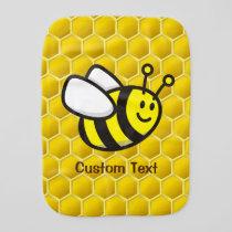 Honeybee Cartoon Baby Burp Cloth