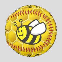 Honeybee Cartoon Baseball
